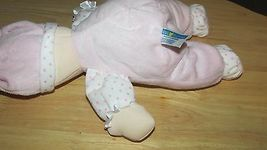 Kids Preferred doll baby soft plush pink knotted hat polka dots satin ruffle image 5