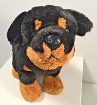 Ganz Webkinz ~ ROTTWEILER Plush Puppy Dog Toy ~ HM183 ~ Black Brown (F) - $7.85