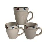 Folkcraft Stoneware Rainbow Trout Mugs Lot of 3 Scotty Z 16 Oz - $21.73