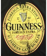 Guinness Extra Foreign Stout Distressed Black T Shirt XL - $14.80