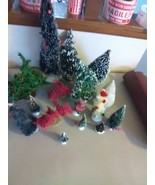 Dept 56 and Generic Christmas Village Trees - 15 Plus - $9.19