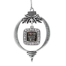 Inspired Silver I Love My Autistic Niece Classic Holiday Decoration Christmas Tr - €12,87 EUR