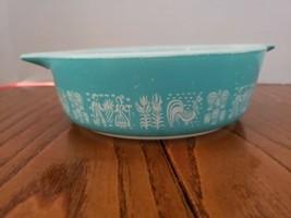 Pyrex Small Casserole Baking Dish 1pt Amish Butterprint Cinderella Handl... - $19.99