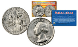 1976 S Mint Washington Bicentennial Quarter Gem BU Silver US Coin w/COA ... - $8.86