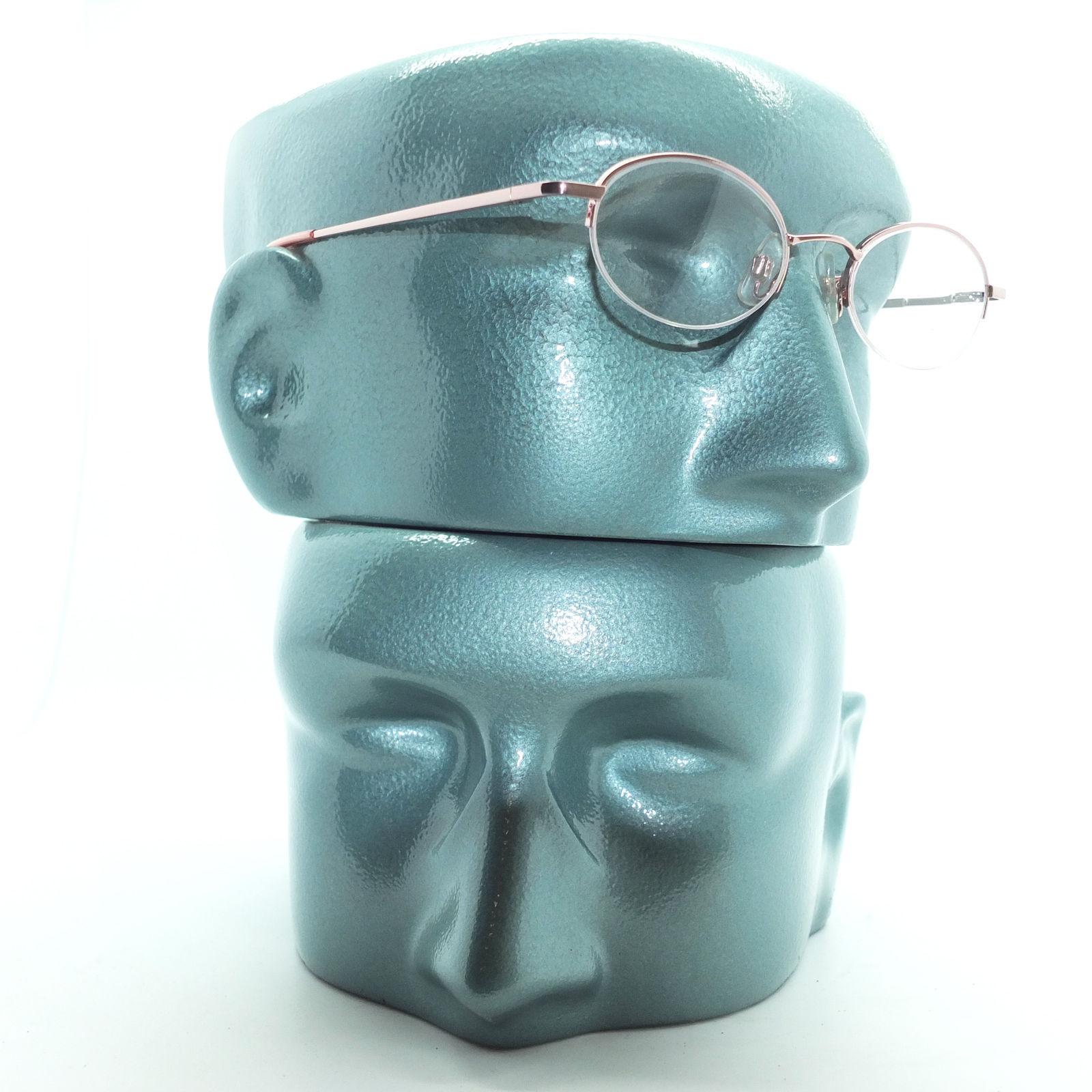 Petite Semi Frameless Bottomless Hint Of Tint Pink +1.00 Reading Glasses