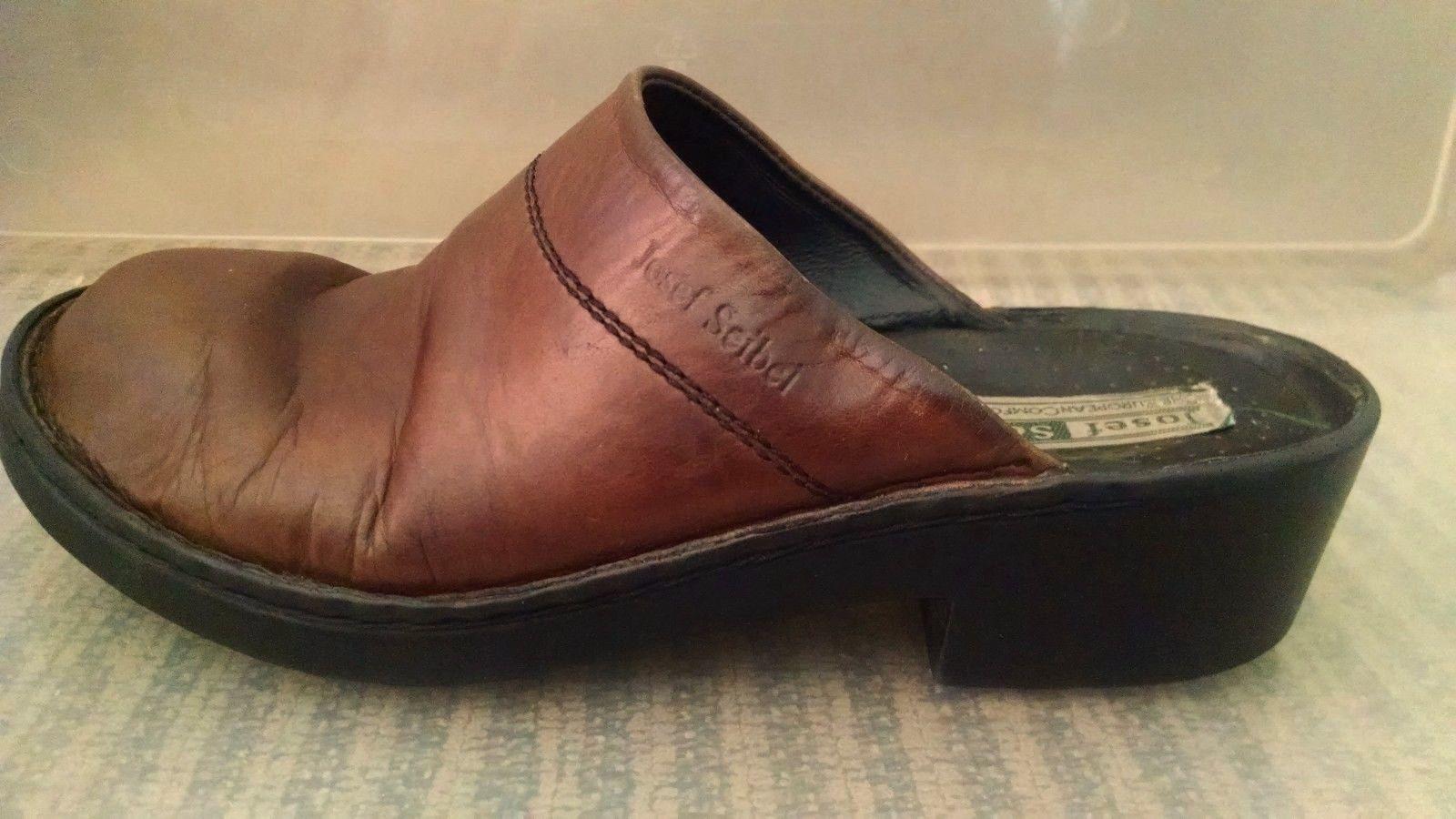 Josef Seibel Womens Clogs 38 EU 7 - 7.5 US Mules Slip On European Comfort Shoe image 4