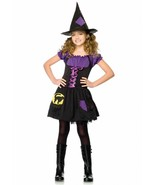 BLACK CAT WITCH CHILD HALLOWEEN COSTUME GIRL'S SIZE X-SMALL 3-4 - $24.89