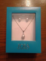 JOIA de Majorca CZ and white pearl pendant and earring set - $103.95