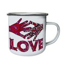 I Love You U Valentine'S Day Funny Gift Retro,Tin, Enamel 10oz Mug d600e - $13.13