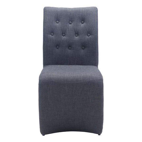 Modern Dining Chairs, Gray Hyper Elegant Upholstered Modern Dining Chair, Set Of