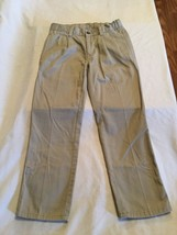 Size 8 Regular Chaps pants khaki uniform pleated front adjustable waist ... - $7.99