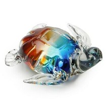 Sea Turtle Art Glass Figurine Dynasty Gallery New - £26.58 GBP