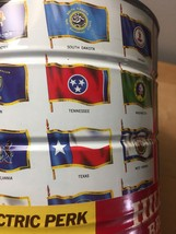 """Vintage 1970 Hills Bros """"Flags of the Fifty States"""" Coffee Can image 5"""