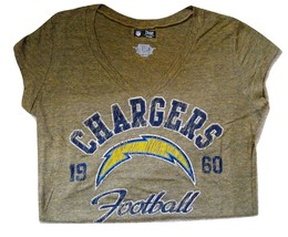 Nfl Womens Jr. V-Neck Tee Chargers Of Fi Cially Lis Nwt 2XL - $15.99