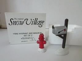 DEPT 56 51322 FIRE HYDRANT & MAILBOX SET OF 2 SNOW VILLAGE ACCESSORY D5 - $9.75