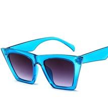 Yoovos  Classic  Sunglasses Women Plastic Vintage Candy Color Lens Glass... - $15.60
