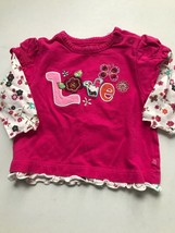 Childrens Place Long Sleeve Floral Love Shirt (3-6 Mo) - $0.99