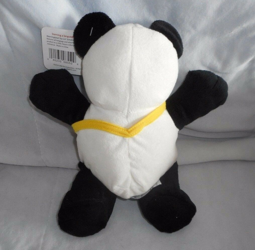 "10"" 2014 LITTLE PIM PANDA BEAR NEW ENGLAND STUFFED ANIMAL PLUSH TOY W/ TAG image 3"
