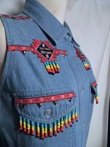 Lew Magram Denim Sleeveless Jean Shirt with Southwest Decoration Detail ... - $44.55