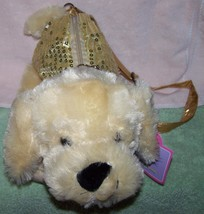 KellyToy Pack Mate Plush Puppy with Gold Sequins Purse NWT - $6.00