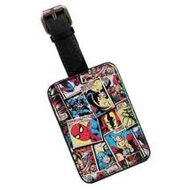 Marvel Comics Mania Comic Art Strip Panels Luggage Tag Holder, NEW UNUSED - $15.47