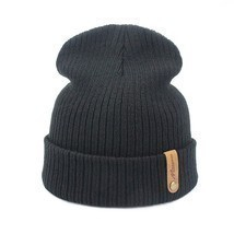 Women Men Crochet Beanie Hat Soft Warm Cap Autumn Winter Female Unisex A... - $9.58