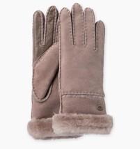 UGG Gloves Exposed Shearling Slim Tech Stormy Grey Medium NEW $155 - $123.75