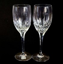 2 (Two) MIKASA ARCTIC LIGHTS Cut Lead Crystal Water Glasses Goblets w Tag - $59.99