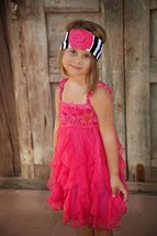 Fun Flirty Precious One Posh Kid Cascading Ruffles Tulle Dress, Fuchsia ... - $48.99+