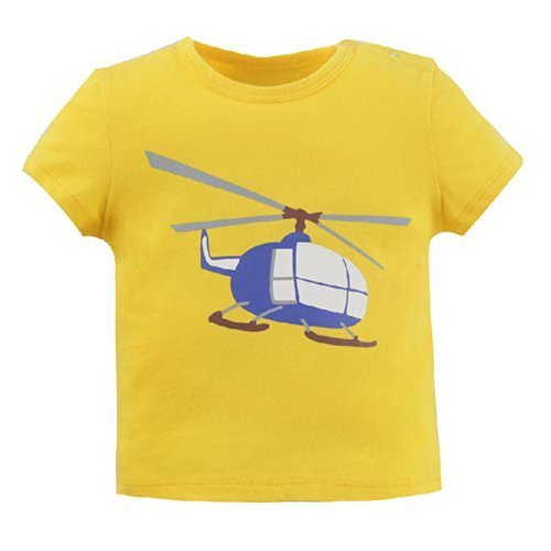 Whirlybird Pure Cotton Infant Tee Baby Toddler T-Shirt YELLOW 100 CM (16-30M)