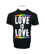 PRIDE LOVE IS LOVE RAINBOW LGBTQ+ UNISEX ADULT BLACK T-SHIRT S-XL FREE SHIP - $9.99