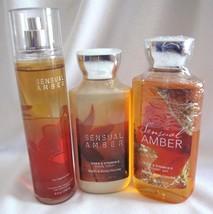 Bath & Body Works Sensual Amber Fragrance Mist Body Lotion Shower Gel Se... - $19.80