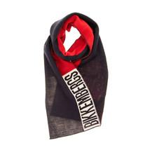 Bikkembergs Unisex Fine 70830555 Sciarpa A Maglia Fine Rosso Multicolore - $43.13