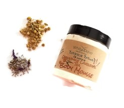 Natural Body Butter Whipped Shea Chamomile and Lavender Body Mousse Mois... - $14.96