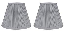 Urbanest Set of 2 Mushroom Pleated Softback Lamp Shades, Faux Silk, 5-inch by 9- - $29.69