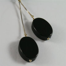 SOLID 18K WHITE GOLD PENDANT, 2,56 3,15 INCHES, BLACK ONYX DROPS, VENETIAN LINK image 3