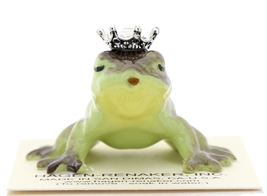 Hagen-Renaker Miniature Frog Prince Kissing Birthstone 04 April Diamond