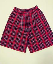 womens Gap red/black/white plaid wide leg shorts size 9-10 - $12.19