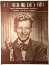 1946 Sheet Music Full Moon And Empty Arms Frank Sinatra Cover Photo - $17.57