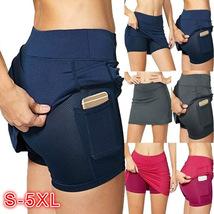 New summer skirt-style short pocket leggings fitness exercise leggings - $15.41