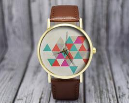 Geometric Watch | Triangles | Vintage Style Watch | Ladies Watch | Women... - $20.00
