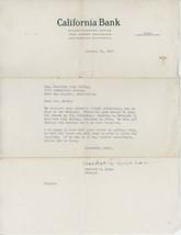1940 California Bank Letterhead Los Angeles Banking Finance Banker - $5.00