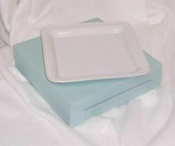 PartyLite Classic White Pillar Tray Glazed White Ceramic Square P90449 - $9.95