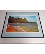 VINTAGE 1970s Bali Hai Kauai Hawaii Framed 16x20 Poster Display - $79.19