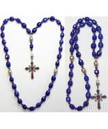 Beaded Chotki Komboskini Genuine Sapphire and Sterling - Unique Orthodox... - $641.52