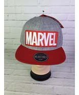 Marvel Comics Gray Red White Logo Hat Cap Snapback Adjustable One Size B... - $34.58