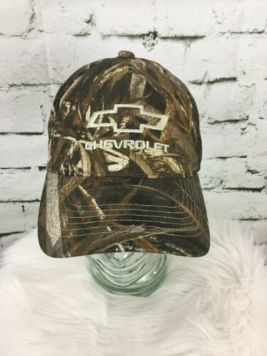 Chevy Hat Cap Camo Camouflage Realtree Strap Back Green Advertising