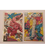 X-FORCE Lot of 2 Marvel Comic Books - #3 & 4 Cable, Spider-Man 1991 - $11.50