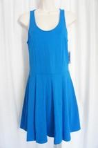 Jessica Simpson Dress Sz S D. Blue Paisley Textured Pleated Skater Casua... - £25.83 GBP