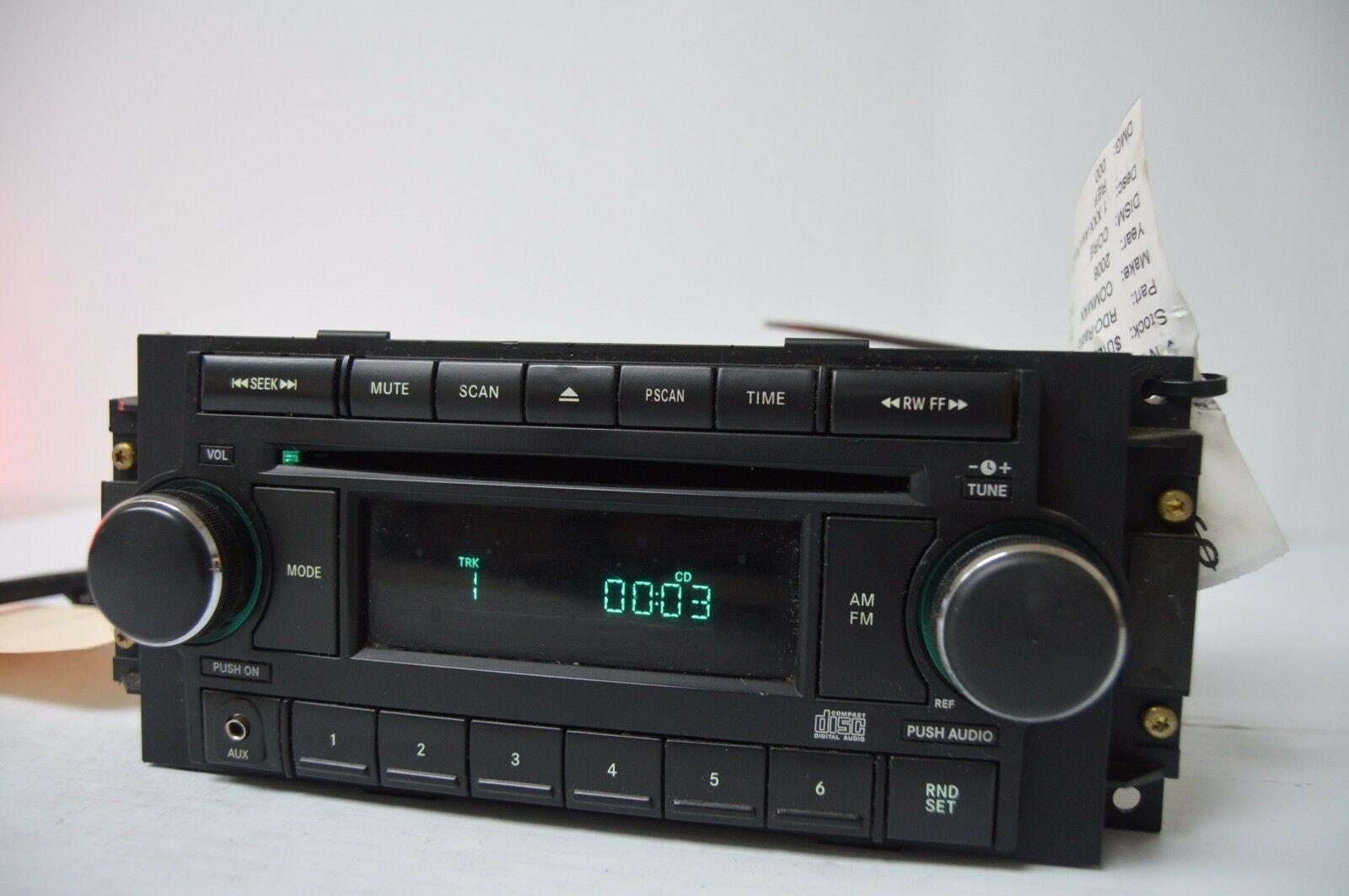 2004-2010 CHRYSLER DODGE RADIO CD PLAYR AUX IPOD (FOR PARTS) P05064171AF C13#017 image 2